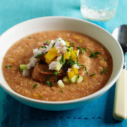 <p>Andalusian-Style Gazpacho</p>
