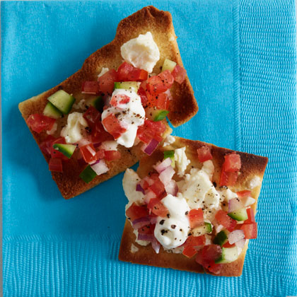 <p>Greek Nachos With Feta</p>