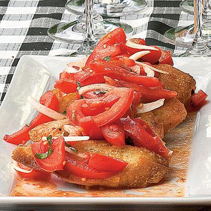 Grilled Tomato Bruschetta