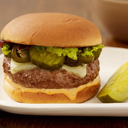 Southwestern Pickled Jalapeno Burger