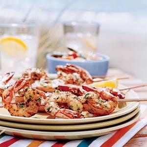My Dinner Solution: Lemon-Garlic Shrimp Skewers
