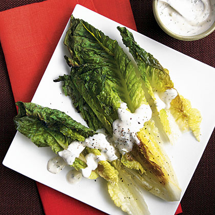 Grilled Romaine with Creamy Herb Dressing Recipe | MyRecipes
