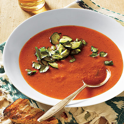 Grilled Vegetable Gazpacho Recipe   MyRecipes.com