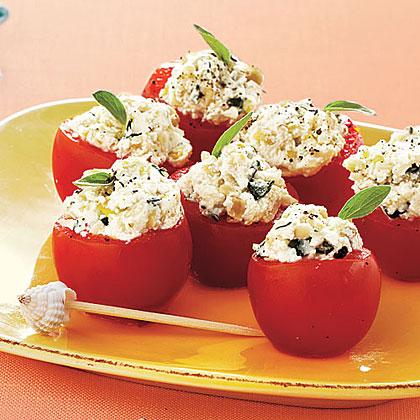 Italian Stuffed Cherry Tomatoes Recipe | MyRecipes.com