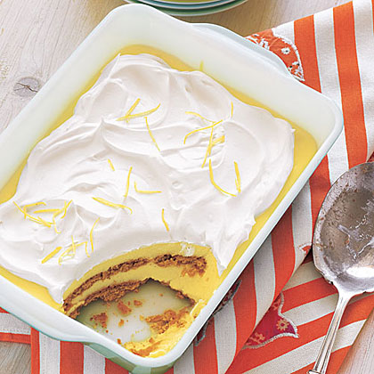 Lemon Graham Icebox Cake