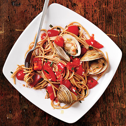 Pasta with Fresh Tomato Sauce and Clams Recipe MyRecipes