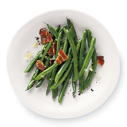 Peppery Bacon Green BeansRecipe