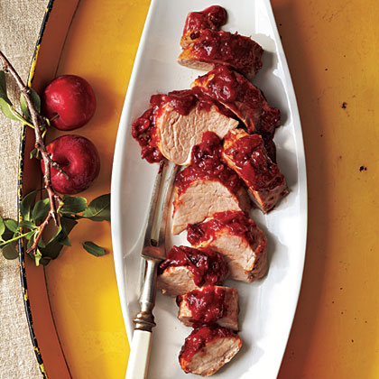 Roast Pork Tenderloin with Plum Barbecue SauceRecipe
