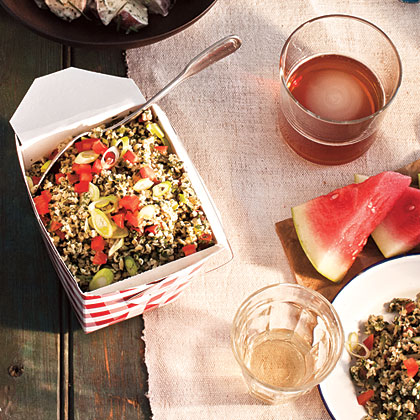 Tabbouleh Salad RecipeThis classic Middle Eastern salad, chock-full of herbs and spiked with lemon, is a perfect make-ahead and portable option.