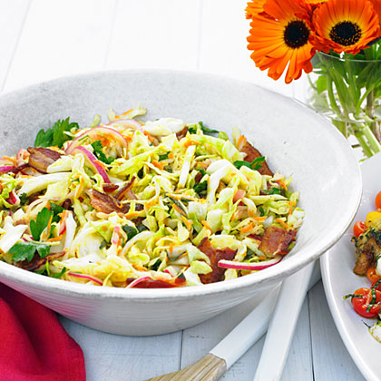 Warm Bacon and Herb Coleslaw Recipe
