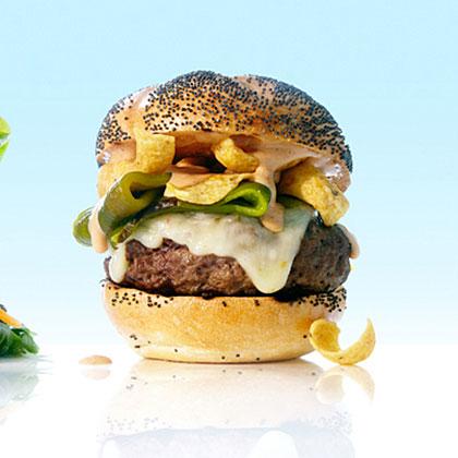 New Mexico Green Chile and Frito BurgersRecipe