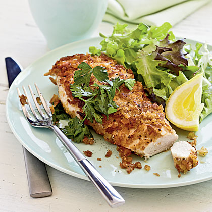 Crispy Chicken with Lemon, Parsley, and Extra Virgin Olive Oil