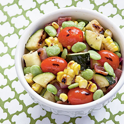 Grilled Summer Veggie Succotash RecipeDon't let the meat eaters dominate—veggies deserve a front row on the grill. Lightly coat vegetables with oil; they tend to stick to grill grates. if you don't have a grill pan, cut pieces in half lengthwise, so they're less likely to drop into the flames.