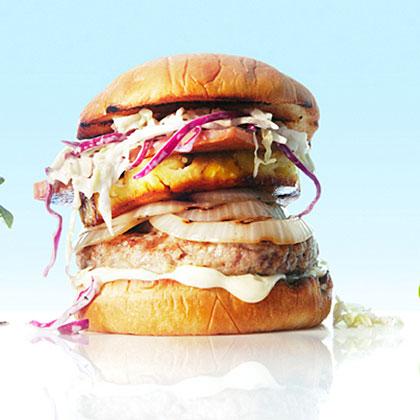 Hawaiian Pig-Out Burgers
