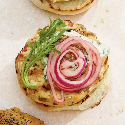 Pickled Onion-Chutney BurgersRecipe