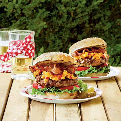 Pimiento Cheese-Bacon Burgers