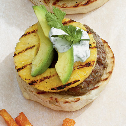 Pineapple-Jalapeno Burgers Recipe