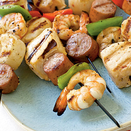 Seafood Kebabs