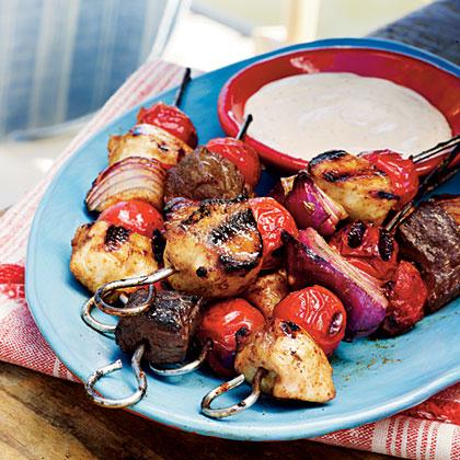 Smoky Chicken Barbecue Kabobs