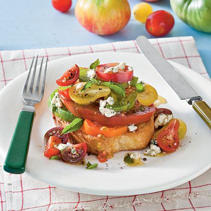 Texas Toast Tomato Sandwiches Recipe