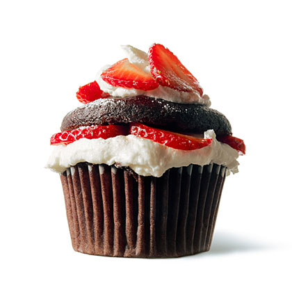 Chloe's Vegan Chocolate Strawberry Shortcake Cupcakes