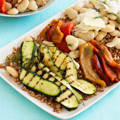 <p>Toasted Farro With Roasted Vegetables and Fennel</p>