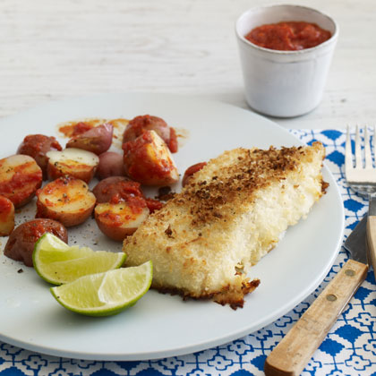 "<p>Panko-Crusted Oven-""Fried"" Fish</p>"