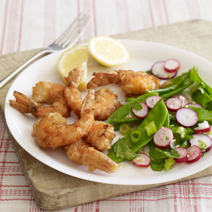 <p>Whole-Wheat-Battered Shrimp</p>