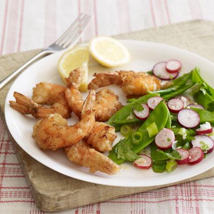 <p>Whole-Wheat-Battered Shrimp</p>