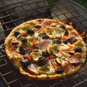 Grilled Vegetable Pizza from Crisco® 100% Extra Virgin Olive Oil