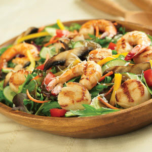 Grilled Seafood Salad with Crisco® Pure Olive Oil