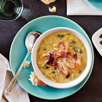 <p>Bacon-Corn Chowder with Shrimp</p>