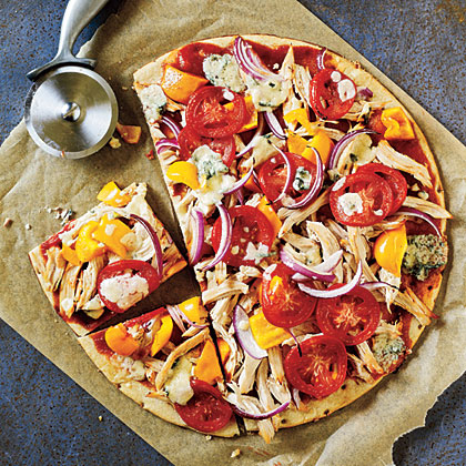 <p>BBQ Chicken and Blue Cheese Pizza</p>