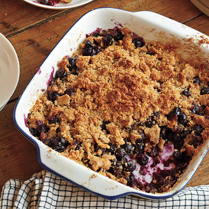 blueberry picking coconut berry crisp on the grilled berry crisp over ...