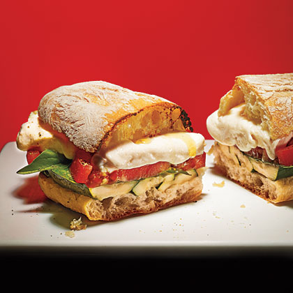 Grilled Zucchini Caprese SandwichesRecipe