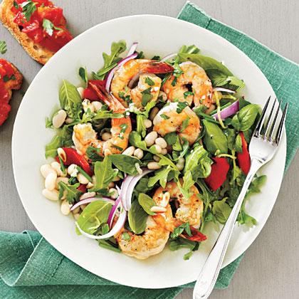<p>Herbed Shrimp and White Bean Salad</p>