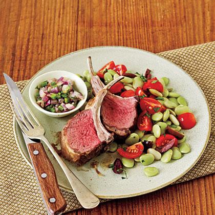 Lamb Chops and Cilantro Relish