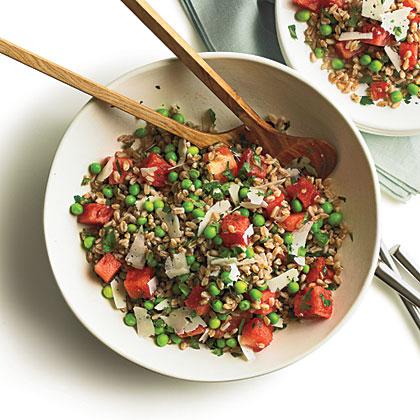 Summer Pea, Watermelon, and Farro Salad Recipe | MyRecipes