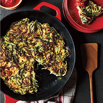 Zucchini Angel Hair Pancake Recipe