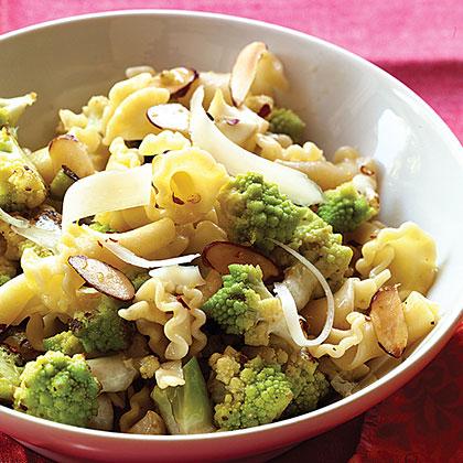 Romanesco Broccoli and Toasted Almond Pasta