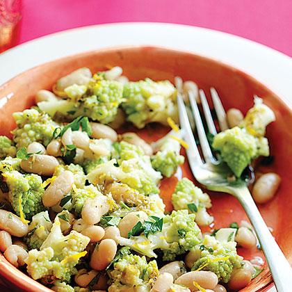 Romanesco Broccoli and Cannellini Bean Salad