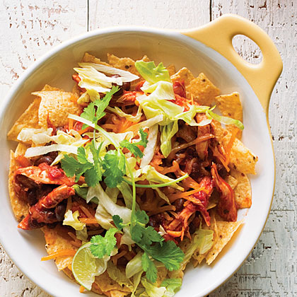 Chicken Enchilada Nacho Bowl
