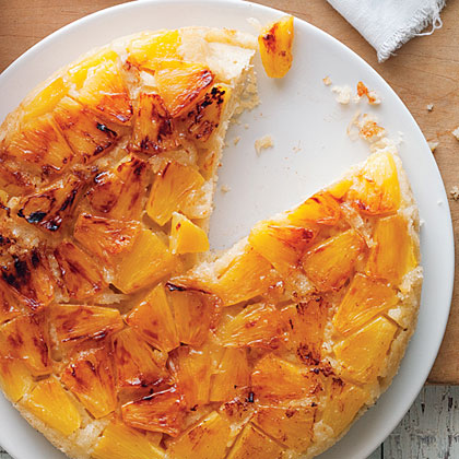 Coconut and Fresh Pineapple Upside-Down Cake