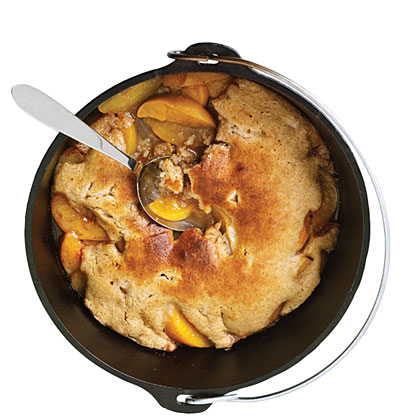 Dutch-Oven Peach Cobbler
