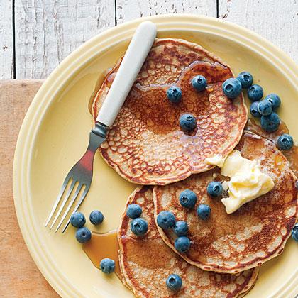 Hearty Whole-Grain PancakesRecipe