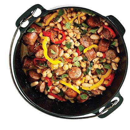 Sausage and Bean Dutch-Oven StewRecipe