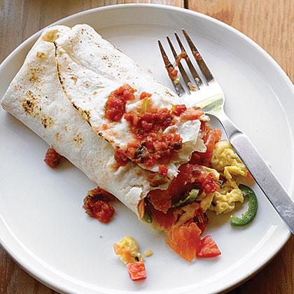 Smoked Salmon Breakfast Burrito