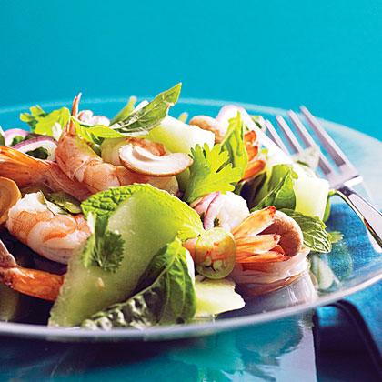 Vietnamese Shrimp and Green Melon Salad