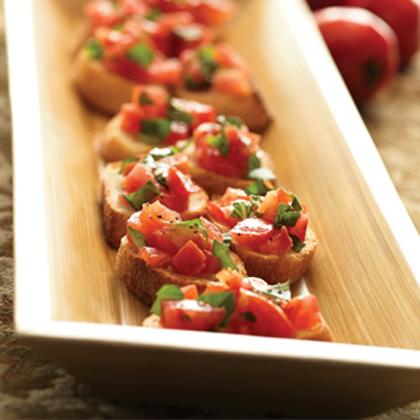 Grilled Tomato and Basil Bruschetta