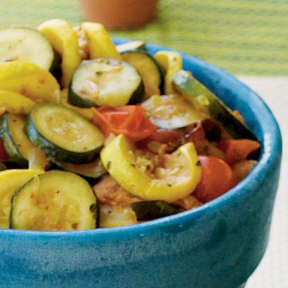 Sauteed Squash and Tomatoes